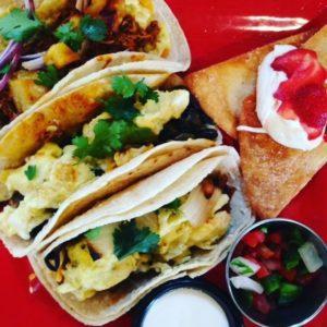 trio of deluxe tacos
